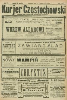 Kurjer Częstochowski : dziennik polityczno-społeczno literacki. R.4, № 142 (25 czerwca 1922)