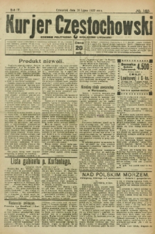 Kurjer Częstochowski : dziennik polityczno-społeczno literacki. R.4, № 162 (20 lipca 1922)