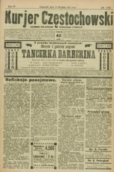 Kurjer Częstochowski : dziennik polityczno-społeczno literacki. R.4, № 179 (10 sierpnia 1922)