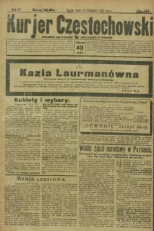 Kurjer Częstochowski : dziennik polityczno-społeczno literacki. R.4, № 195 (30 sierpnia 1922)
