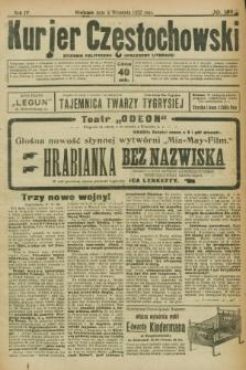 Kurjer Częstochowski : dziennik polityczno-społeczno literacki. R.4, № 199 (3 września 1922)