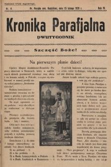 Kronika Parafjalna : dwutygodnik. 1931, nr4