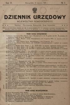 Dziennik Urzędowy Województwa Nowogródzkiego. 1926, nr1