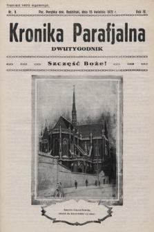 Kronika Parafjalna : dwutygodnik. 1931, nr8