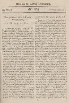 Dodatek do Gazety Lwowskiej : doniesienia urzędowe. 1821, nr243