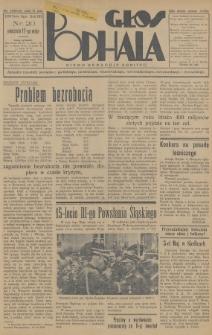 Głos Podhala : aktualny tygodnik powiatów: gorlickiego, jasielskiego, limanowskiego, nowosądeckiego, nowotarskiego i żywieckiego. 1936, nr20