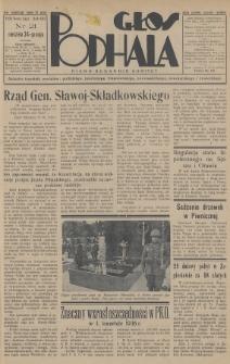 Głos Podhala : aktualny tygodnik powiatów: gorlickiego, jasielskiego, limanowskiego, nowosądeckiego, nowotarskiego i żywieckiego. 1936, nr21