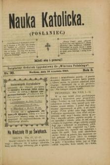 """Nauka Katolicka (Posłaniec) : bezpłatny dodatek tygodniowy do """"Wiarusa Polskiego"""". R.3, nr 38 (20 września 1894)"""