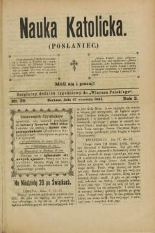 """Nauka Katolicka (Posłaniec) : bezpłatny dodatek tygodniowy do """"Wiarusa Polskiego"""". R.3, nr 39 (27 września 1894)"""