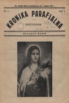 Kronika Parafjalna : dwutygodnik. 1932, nr1