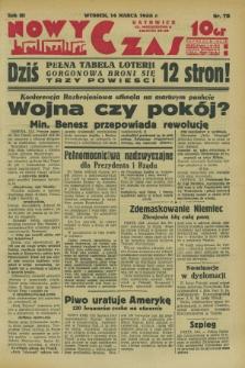 Nowy Czas. R.3, nr 73 (14 marca 1933)
