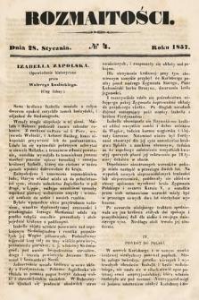 Rozmaitości : pismo dodatkowe do Gazety Lwowskiej. 1857, nr4