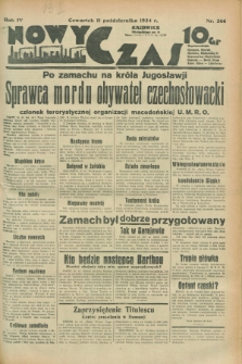 Nowy Czas. R.4, nr 266 (11 października 1934)