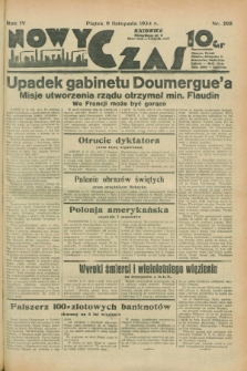 Nowy Czas. R.4, nr 295 (9 listopada 1934)