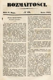 Rozmaitości : pismo dodatkowe do Gazety Lwowskiej. 1857, nr18
