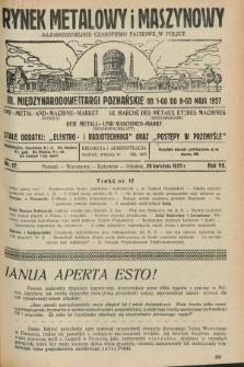 Rynek Metalowy i Maszynowy : najobszerniejsze czasopismo fachowe w Polsce. R.7, nr 17 (29 kwietnia 1927) + dod.