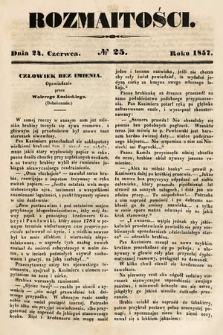 Rozmaitości : pismo dodatkowe do Gazety Lwowskiej. 1857, nr25