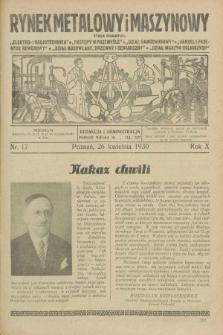 Rynek Metalowy i Maszynowy. R.10, nr 17 (26 kwietnia 1930) + dod. + wkładka