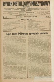 Rynek Metalowy i Maszynowy. R.10, nr 40 (4 października 1930) + dod.
