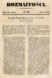 Rozmaitości : pismo dodatkowe do Gazety Lwowskiej. 1857, nr30