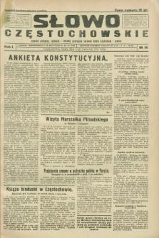 Słowo Częstochowskie : dziennik polityczny, społeczny i literacki, poświęcony sprawom miasta Częstochowy i powiatu. R.1, № 15 (1 kwietnia 1931)