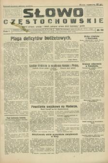 Słowo Częstochowskie : dziennik polityczny, społeczny i literacki, poświęcony sprawom miasta Częstochowy i powiatu. R.1, № 20 (9 kwietnia 1931)