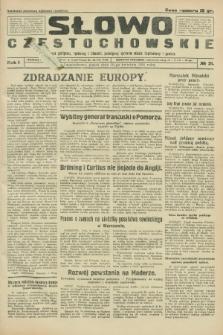 Słowo Częstochowskie : dziennik polityczny, społeczny i literacki, poświęcony sprawom miasta Częstochowy i powiatu. R.1, № 21 (10 kwietnia 1931)