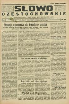 Słowo Częstochowskie : dziennik polityczny, społeczny i literacki, poświęcony sprawom miasta Częstochowy i powiatu. R.1, № 22 (11 kwietnia 1931)
