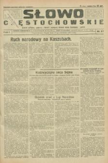 Słowo Częstochowskie : dziennik polityczny, społeczny i literacki, poświęcony sprawom miasta Częstochowy i powiatu. R.1, № 27 (17 kwietnia 1931)