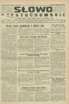 Słowo Częstochowskie : dziennik polityczny, społeczny i literacki, poświęcony sprawom miasta Częstochowy i powiatu. R.1, № 29 (19 kwietnia 1931)