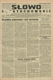 Słowo Częstochowskie : dziennik polityczny, społeczny i literacki, poświęcony sprawom miasta Częstochowy i powiatu. R.1, № 31 (22 kwietnia 1931)