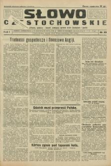 Słowo Częstochowskie : dziennik polityczny, społeczny i literacki, poświęcony sprawom miasta Częstochowy i powiatu. R.1, № 33 (24 kwietnia 1931)