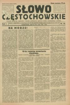 Słowo Częstochowskie : dziennik polityczny, społeczny i literacki, poświęcony sprawom miasta Częstochowy i powiatu. R.1, nr 42 (5 maja 1931)