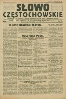 Słowo Częstochowskie : dziennik polityczny, społeczny i literacki, poświęcony sprawom miasta Częstochowy i powiatu. R.1, nr 61 (20 maja 1931)