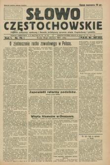 Słowo Częstochowskie : dziennik polityczny, społeczny i literacki, poświęcony sprawom miasta Częstochowy i powiatu. R.1, nr 70 (10 czerwca 1931)
