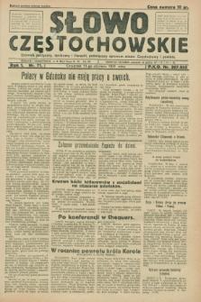 Słowo Częstochowskie : dziennik polityczny, społeczny i literacki, poświęcony sprawom miasta Częstochowy i powiatu. R.1, nr 71 (11 czerwca 1931)