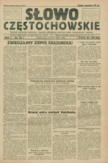 Słowo Częstochowskie : dziennik polityczny, społeczny i literacki, poświęcony sprawom miasta Częstochowy i powiatu. R.1, nr 72 (12 czerwca 1931)