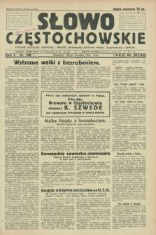 Słowo Częstochowskie : dziennik polityczny, społeczny i literacki, poświęcony sprawom miasta Częstochowy i powiatu. R.1, nr 138 (30 sierpnia 1931)