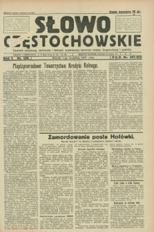 Słowo Częstochowskie : dziennik polityczny, społeczny i literacki, poświęcony sprawom miasta Częstochowy i powiatu. R.1, nr 139 (1 września 1931)