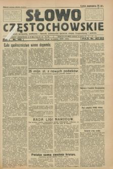 Słowo Częstochowskie : dziennik polityczny, społeczny i literacki, poświęcony sprawom miasta Częstochowy i powiatu. R.1, nr 149 (12 września 1931)