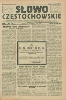 Słowo Częstochowskie : dziennik polityczny, społeczny i literacki, poświęcony sprawom miasta Częstochowy i powiatu. R.1, nr 170 (7 października 1931)