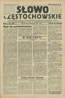 Słowo Częstochowskie : dziennik polityczny, społeczny i literacki, poświęcony sprawom miasta Częstochowy i powiatu. R.1, nr 181 (20 października 1931)