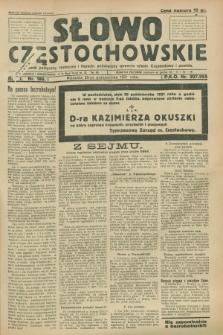 Słowo Częstochowskie : dziennik polityczny, społeczny i literacki, poświęcony sprawom miasta Częstochowy i powiatu. R.1, nr 186 (25 października 1931)