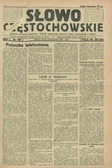 Słowo Częstochowskie : dziennik polityczny, społeczny i literacki, poświęcony sprawom miasta Częstochowy i powiatu. R.1, nr 187 (27 października 1931)
