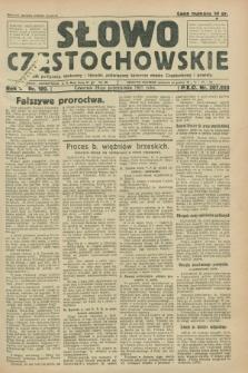 Słowo Częstochowskie : dziennik polityczny, społeczny i literacki, poświęcony sprawom miasta Częstochowy i powiatu. R.1, nr 189 (29 października 1931)
