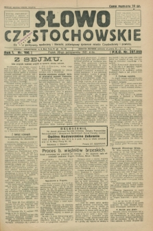 Słowo Częstochowskie : dziennik polityczny, społeczny i literacki, poświęcony sprawom miasta Częstochowy i powiatu. R.1, nr 190 (30 października 1931)