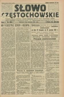 Słowo Częstochowskie : dziennik polityczny, społeczny i literacki, poświęcony sprawom miasta Częstochowy i powiatu. R.1, nr 204 (15 listopada 1931)