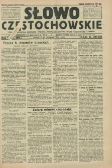 Słowo Częstochowskie : dziennik polityczny, społeczny i literacki, poświęcony sprawom miasta Częstochowy i powiatu. R.1, nr 209 (21 listopada 1931)