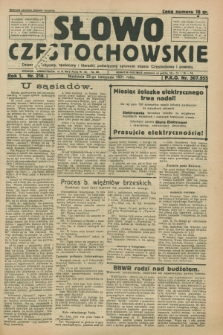 Słowo Częstochowskie : dziennik polityczny, społeczny i literacki, poświęcony sprawom miasta Częstochowy i powiatu. R.1, nr 210 (22 listopada 1931)