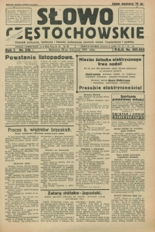 Słowo Częstochowskie : dziennik polityczny, społeczny i literacki, poświęcony sprawom miasta Częstochowy i powiatu. R.1, nr 216 (29 listopada 1931)